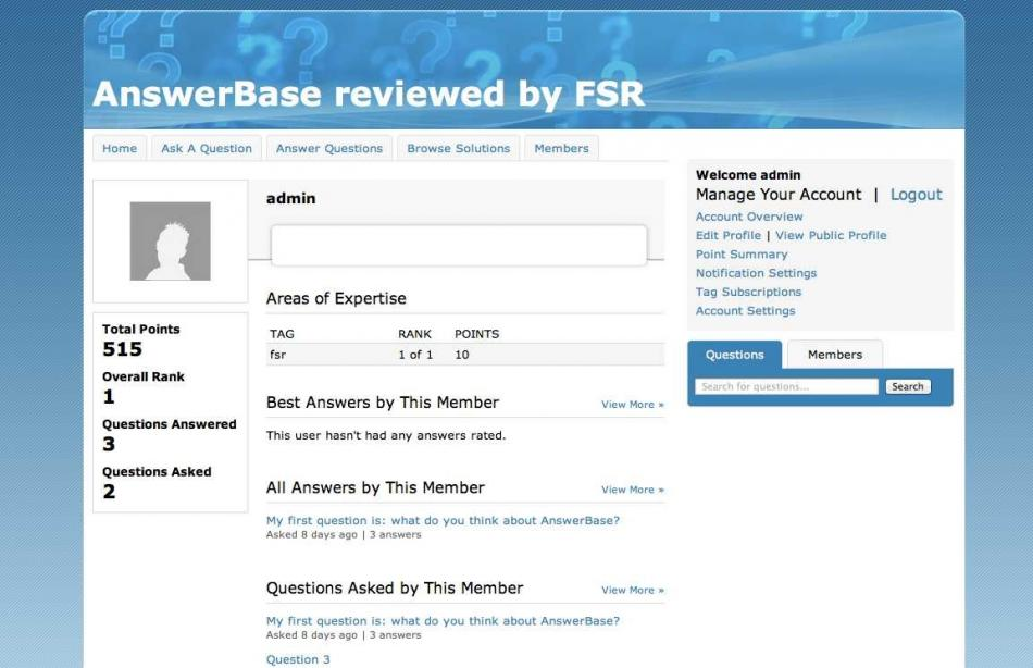 Answerbase - Member Public Profile