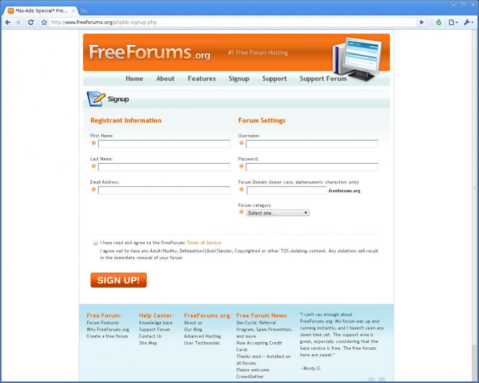 FreeForums - Create Forum