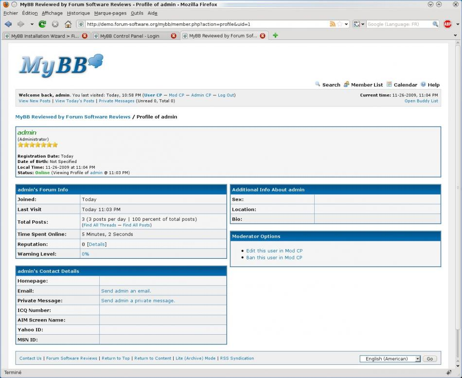 MyBB User Profile