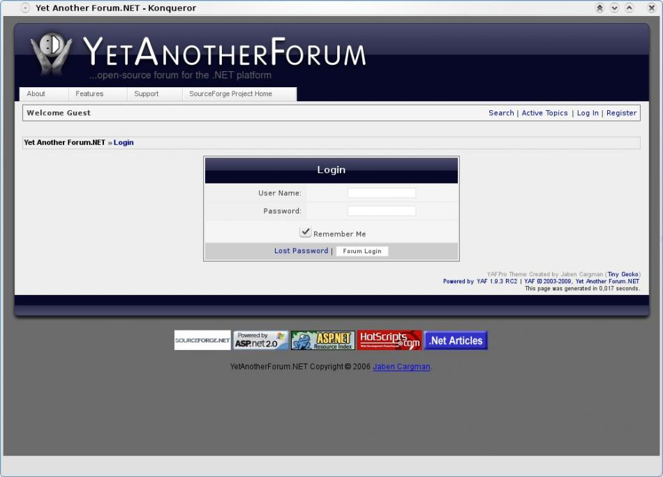 Yet Another Forum Login