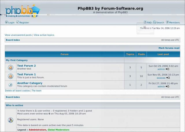 PhpBB 3 Screenshot